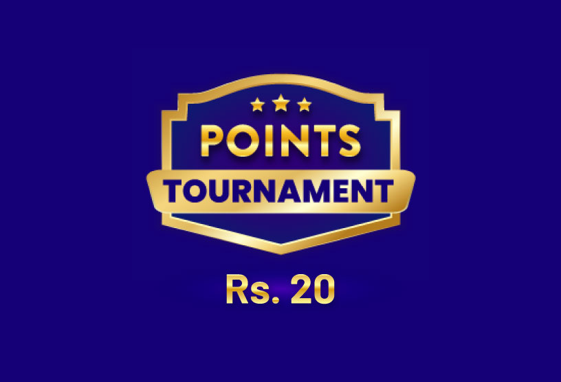 Points Tournament for Rs 20