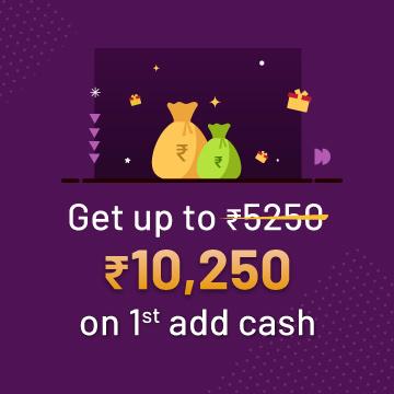 Welcome Bonus: Up to ₹25,250 free bonus