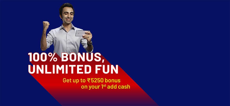 Welcome Bonus: Add Minimum Rs. 50 to get assured 100% bonus.