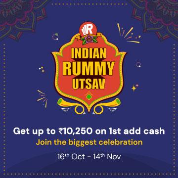 Indian Rummy Utsav: Get up to ₹10,250 on First add cash