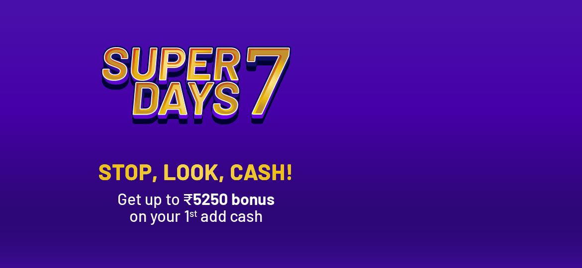 Hurry up, get up to Rs.5250 bonus on your 1st add cash